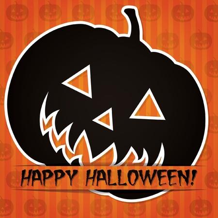 Happy Halloween  sticker card