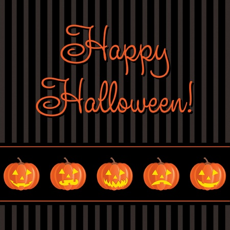 Jack o lantern Happy Halloween card Vector