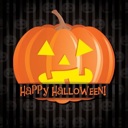 jack o: Jack o lantern Happy Halloween card