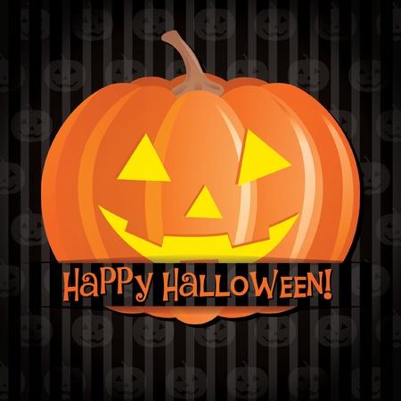 jack o: Jack o lantern Happy Halloween card Illustration
