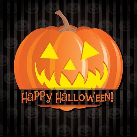 Jack o lantern Happy Halloween card