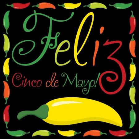5th:  Feliz Cinco de Mayo   Happy 5th of May  card