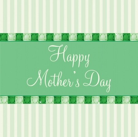 toned: Green two toned Mother s Day gem card