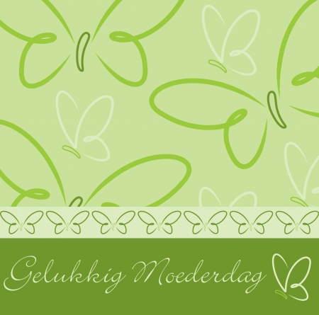 Dutch Happy Mother s Day butterfly card  Ilustração