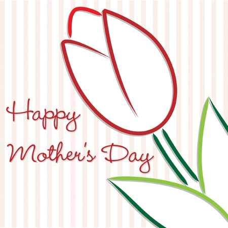 mother s day: Happy Mother s Day tulip card Illustration