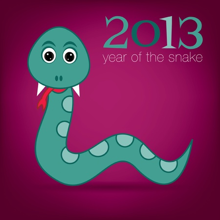 snake year: Happy New Year snake card