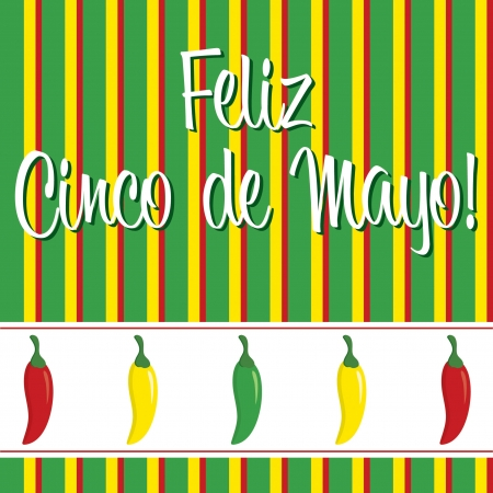 Cinco de Mayo chili pepper greeting cards  Vector