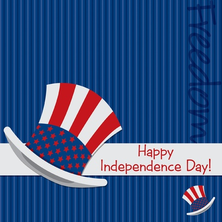 Patriotic Uncle Sam hat 4th of July card in vector format Stock Vector - 19902797