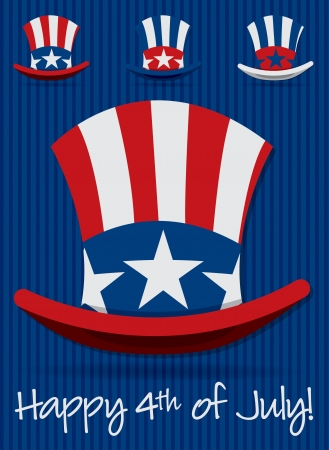 Uncle Sam Patriotic hat set in vector format  Stock Vector - 19902833