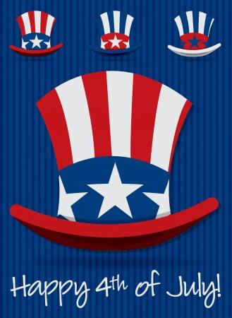 sam: Uncle Sam Patriotic hat set in vector format