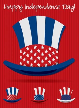 Uncle Sam Patriotic hat set in vector format Stock Vector - 19902836