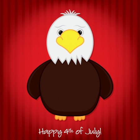 Bald Eagle Independence Day card in vector format  Vector