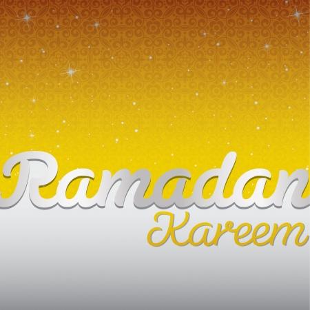 Ramadan Kareem  Generous Ramadan  card in vector format  Illustration