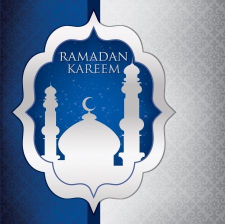 masjid: Mosque  Ramadan Kareem   Generous Ramadan  card in format Illustration