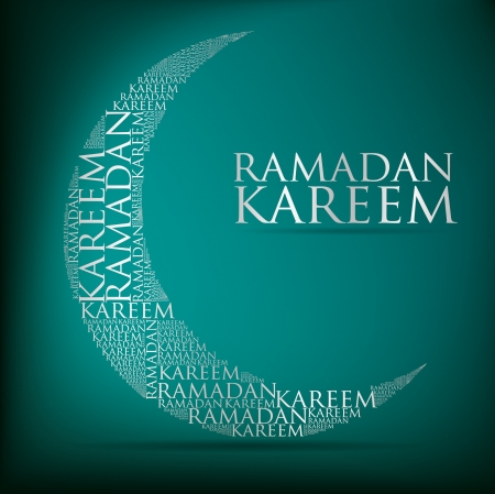 Crescent moon  Ramadan Kareem   Generous Ramadan  card in format Vector