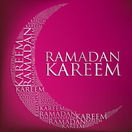 crescent: Crescent moon  Ramadan Kareem   Generous Ramadan  card in format