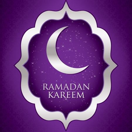 Ramadan Kareem   Generous Ramadan  moon card in vector format  Vector
