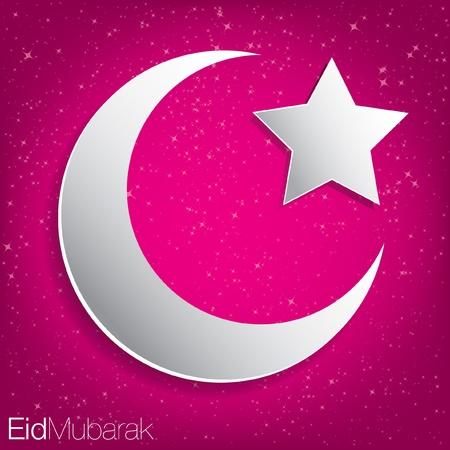 Eid Mubarak  Blessed Eid  card in vector format Stock Vector - 20841683