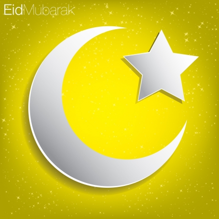 Eid Mubarak  Blessed Eid  card in vector format  Stock Vector - 20841685
