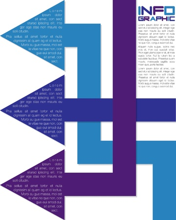 Bright infographic arrows in vector format  Vector