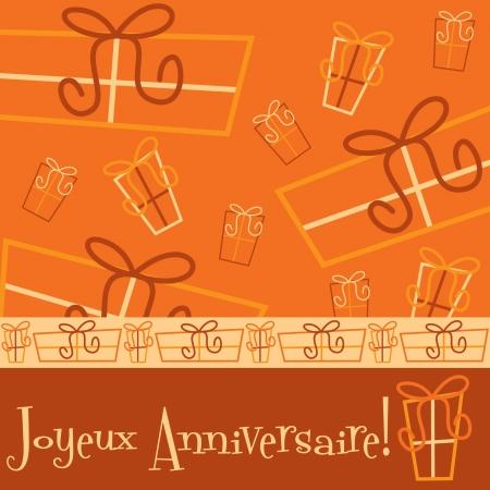 joyeux: Bright  Happy Birthday  card in vector format