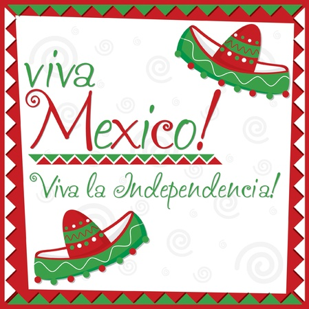 Mexican Independence Day card in vector format