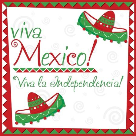 independencia: Tarjeta del d�a de la Independencia de M�xico en formato vectorial