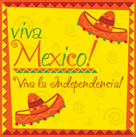 fiesta: Mexicaanse Independence Day-kaart in vector-formaat