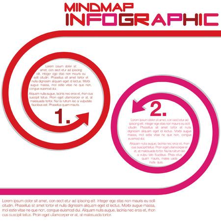 Infografica frecce ricci in formato vettoriale Archivio Fotografico - 22469493