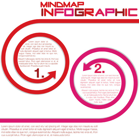 Infographic curly arrows in vector format  Vector