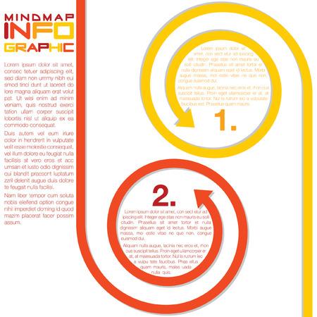 Infografica frecce ricci in formato vettoriale Archivio Fotografico - 22469490