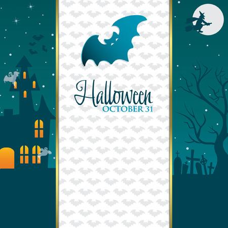 Happy Halloween card invitation Stock Vector - 22469737