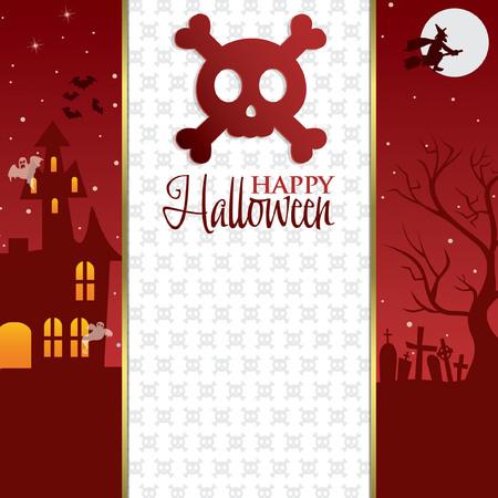 31: Happy Halloween card invitation Illustration