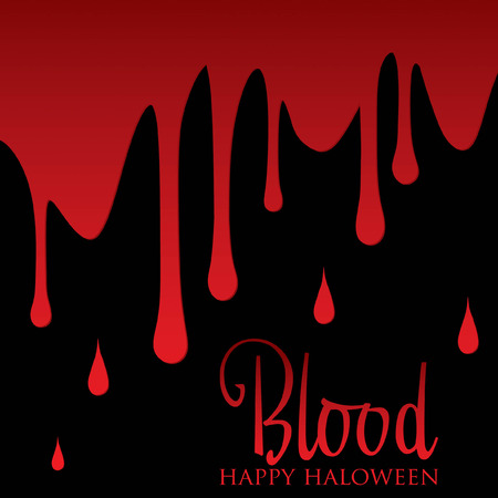 blood stains: Bloody wall Halloween card in vector format  Illustration