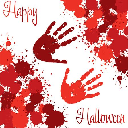 spatter: Blood Spatter Halloween card in vector format
