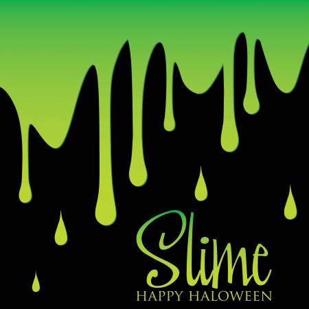 slime: Slime Halloween card in vector format  Illustration
