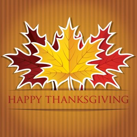 Maple leaf Thanksgiving card in vector format  Illustration