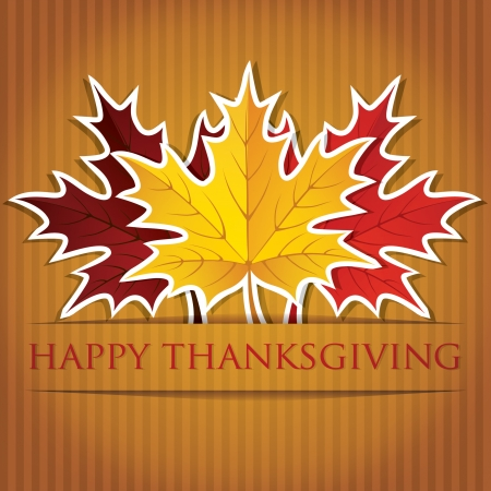 Maple leaf Thanksgiving card in vector format  Vector