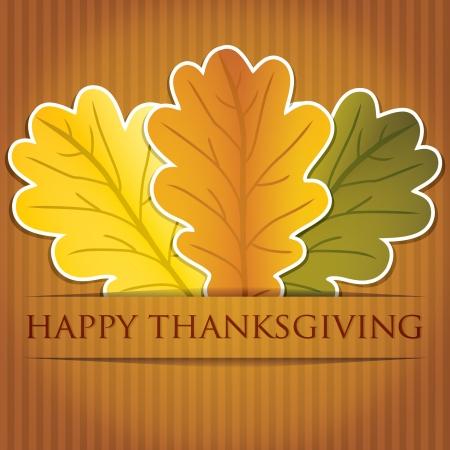 Eikel laat Thanksgiving-kaart in vector-formaat