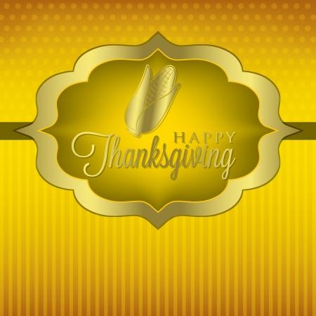 Corn elegant Thanksgiving card in vector format  Vector
