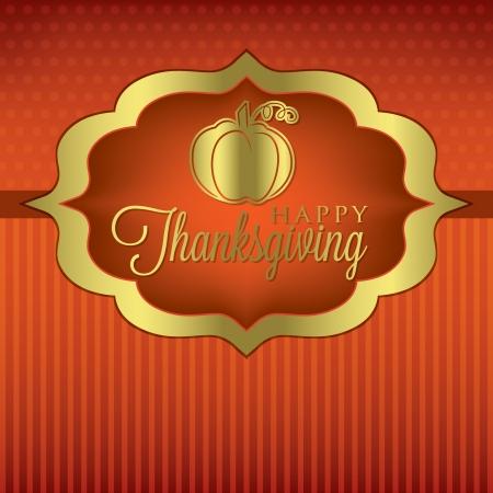 turkey thanksgiving: Calabaza tarjeta elegante de Acci�n de Gracias en formato vectorial