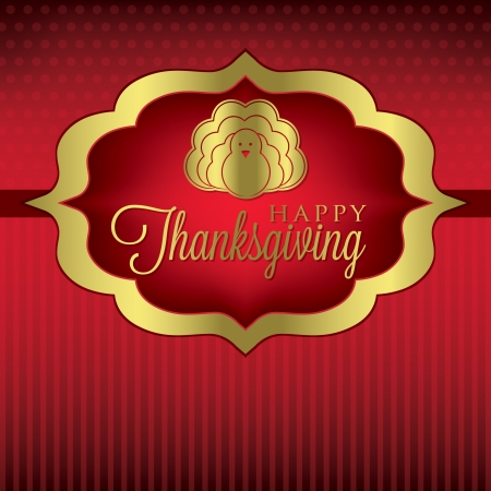 Turkey elegant Thanksgiving card in vector format  Vector