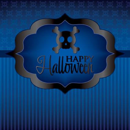 Skull Halloween card in vector format  Vector