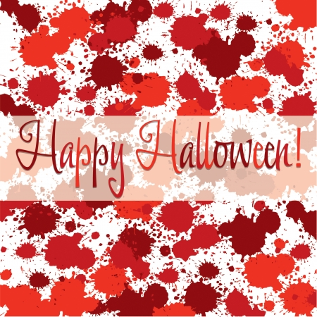 Blood spatter Halloween card in vector format  Vector