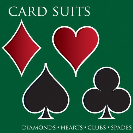 jeu de carte: Le costume de carte de fond en format vectoriel