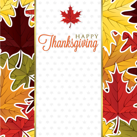 Leaf Thanksgiving card in vector format  Vector