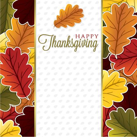 벡터 형식으로 잎 추수 감사절 카드 일러스트