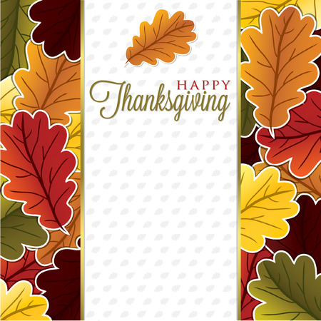 Blad Thanksgiving-kaart in vector-formaat