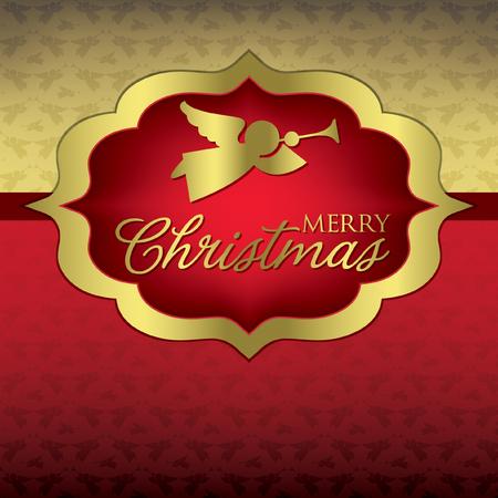 Elegant label Christmas card in vector format Vector