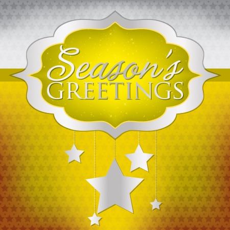 Elegant hanging decoration Christmas card in vector format  Vector